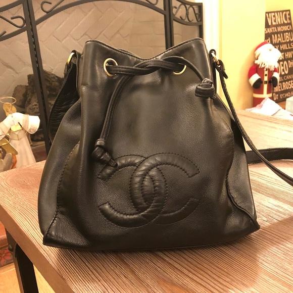 97471ed17f6f CHANEL Handbags - FINAL PRICE DROP - Vintage Chanel Bucket Bag Black